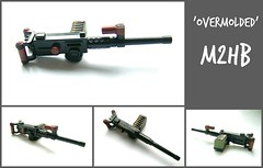 Custom 'Overmolded' M2HB (WW2 Creations) Tags: usa brown brick soldier army us fight war gun arms lego box rifle over machine m stick ammo m2 hb reddish molded m2hb brickarms overmolded
