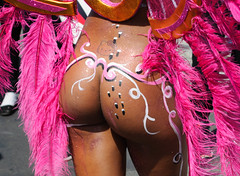 Bottom, Mindelo Carnaval, Cape Verde (CarolineG2011) Tags: hello africa carnival pink verde tattoo glitter nude cabo women bottom decoration feathers kitty bum carnaval cape backside behind derriere derrière