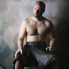 Our Genuine Leather Kilt (kiltedbros) Tags: bear gay leather fetish kilt bears gayboy kilts mensfashion swag gaybears almostnaked manskirt freeballing