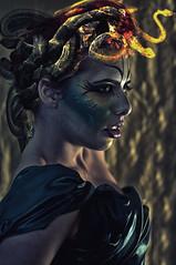 stone's eyes (Vale Mushroom Joplin) Tags: fashion glamour snake dio bodypainting pietra medusa dea serpente vipera mitologia mitologico veleno serpenti velenoso