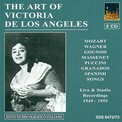 Vocal Recital Angeles Victoria De Los - Mozart W.a. Wagner R. Gounod C.-f. Massenet J. Granados E. Fuste E. Turina J. -1949-1955- Victoria De Los Angeles Idis