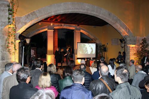 Proyección de un video conmemorativo de los 50 años de Coviñas