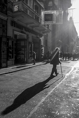 Counterflow (.anselmo) Tags: christmas street italy white black rome vertical bn series serie select 2014 amsis