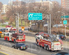 FDNY Fire Trucks on the Major Deegan Expressway, Bronx, New York City (jag9889) Tags: county city nyc newyorkcity usa ny newyork car truck fire flickr unitedstates bronx unitedstatesofamerica engine firetruck company vehicle borough thebronx firefighter fdny department firedepartment firefighters apparatus seagrave sedgwick bravest slashers firstresponder 2011 newyorkcityfiredepartment pumpertruck westbronx allamericacity sedgwickavenue morrisheights firedepartmentofthecityofnewyork e043 y2011 jag9889 ens12