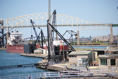 Rt. Hon. Paul J. Martin (wonder_al) Tags: soolocks michigan saultstemarie up upperpeninsula ship freighter canadasteamshiplines canada internationalbridge bridge locks
