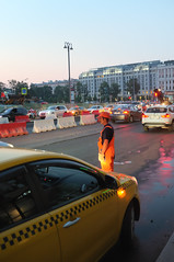 DSCF2045 (Mike Pechyonkin) Tags: road street car moscow worker  2016
