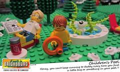 Children's Pool (EVWEB) Tags: lego minifigures summer childern child guy boy pool swim dad daddy monster fear bug water soon garden sun humor fun