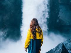 Iceland. (~ AdriaN ~) Tags: olympus pen olympuspenf iceland portrait islandia waterfall cascada trip adventure nature landscape color 45mm