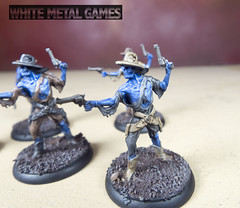 Undead Outlaws (whitemetalgames.com) Tags: undead outlaws gunslingers bandits shadows brimstone board game wmg white metal games raleigh nc north carolina commission painting service services painted mini miniature miniatures