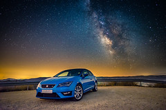 Milky Leon (modesrodriguez) Tags: seat leon milkyway galactic centre sky stars longexposure car vehicle sports highiso blue pollution light