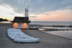 Toronto 6 (euanwhite) Tags: toronto beach lifeguard dusk sunset boats