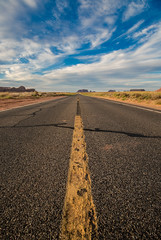 Monument valley (Antonio J. Benete) Tags: road trip usa west bird monument car landscape coast us bend 66 route valley 5d horseshoe navajo estados eeuu 1635 mk3 unidos hackberri