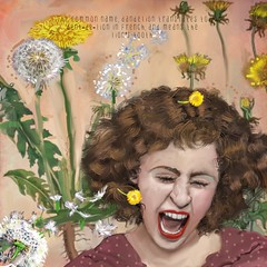 Lion's Teeth (Hotel Midnight) Tags: flowers mobile duck surrealism lion scream storms stories appart dandelions botanicals fieldnotes naturalist iart ipad sketchbookpro mcmillion ipainting applepencil fieldjournal ipadpro mobiledigitalart