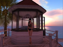 From profile feed... (~*~ Rain ~*~) Tags: beach secondlife pinup lighthouse