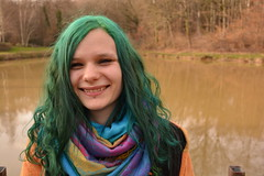 NIKON_3 Tournus 178 (Cloudy Child) Tags: nikon3tournus manuu smile green hair forest portrait fort sourire friendship amiti