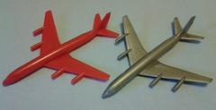 PLASTIC DC8s (NyamalaTone) Tags: toy airplane avion jouet juguete vintage collectible flugzeug