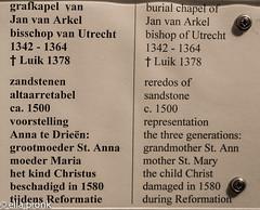 2016-04-10 Utrecht, Domkerk, Nederland IMG1369 (ellapronkraft.) Tags: utrecht domkerk nederland cathedral netherlands damaged burialchapel janpvanarkel grandmotherstann motherstmary childchrist