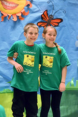 2016-04-07 (130) Fred D ES 2nd grade show (How Does Your Garden Grow) evening (JLeeFleenor) Tags: photos photography virginia va leesburg loudouncounty frederickdouglass elementaryschool twins inside indoors youthactivities youth skit