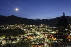 Chepelare, Bulgaria (Rivo 23) Tags: chepelare town bulgaria rhodope mountain dusk time moonrise night shot