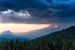 Cloudy Evening at Mount Shasta, California (Beau Rogers) Tags: mount mountshasta mtshasta cascaderange california clouds cloudy west weather trees nature serene beautiful