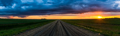 Manitoba Summer (Nelepl (away)) Tags: manitoba canada prairies sunset road clouds storm farmland crops sky agriculture field countryside country sun outdoor pano panorama