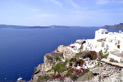 Oia, Santorini (chasapianna) Tags: sun greece santorini view scenery blue white