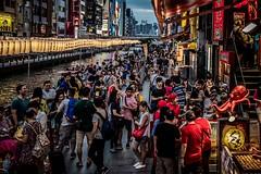 People in Osaka Night Market (Photo Alan) Tags: osaka japan people night market nightstreet nightmarket streetpeople streetphotography streetmarket