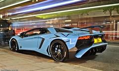 Lamborghini Aventador SV Roadster (Jack de Gier) Tags: lamborghini aventador sv roadster blue exotic supercar hypercar horsepower sloanestreet london knightsbridge luxury speed uk