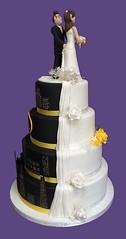 (rolipayne) Tags: recent gotham halfandhalf batman cake roli wedding