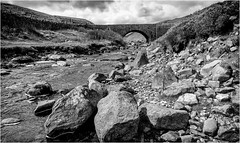 Yorkshire Dales. (wayman2011) Tags: fujifilmx70 lightroom wayman2011 bwlandscapes mono bridges streams becks rocks pennines fells moorland dales yorkshiredales northyorkshire uk