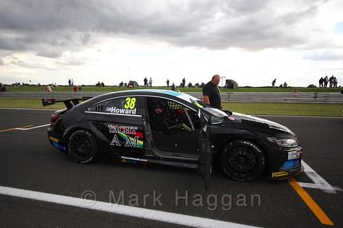 Mark Howard's car on the Grid Walks at the BTCC 2016 Weekend at Snetterton
