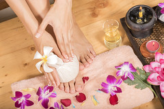 Foot massage (Mangpink) Tags: foot closeup skincare pressure barefoot soft natural white wellness therapist bare luxury treatment reflexology female smooth touch medicine toes leg therapy lifestyle healthy heal girl holding care woman close relax beauty salon skin massage enjoyment indoor health comfortable spa well hand relaxation