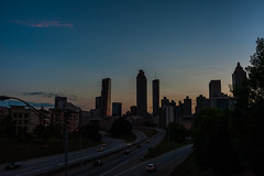 City streets (BillyBPhotos) Tags: jackson street bridge atlanta midtown 4th ward nikon sunset sky city cityscapes dusk skyscrapers