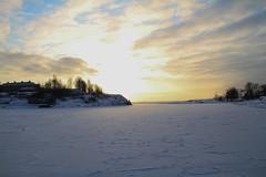 Sea of ice (Princess Ruto) Tags: helsinki finland sunset ice snow park clouds hill winter january sky