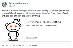 Come check out our AMA on /r/powerlifting! Ask us anything you want leading up to the pre-sale of OpenBarbell V2, we'll be at the computer all day answering questions about the best VBT device in the world, S&S Barbell, or any of the other stuff we have g (squatsandscience) Tags: come check out our ama rpowerlifting ask us anything you want leading up presale openbarbell v2 well be computer all day answering questions about best vbt device world ss barbell or any other stuff we have going on askmeanything powerlifting squatsandscience squat bench deadlift usapl velocitybasedtraining openbarbellv2
