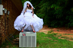 Behind the Chapel at the Wedding of Crystal and Chris (Studio d'Xavier) Tags: twistedink bride wedding marilynmonroe