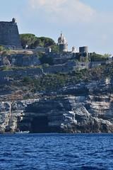 st peter church next to doria castle (dinapunk) Tags: italy sea cinqueterre laspezia stpeter