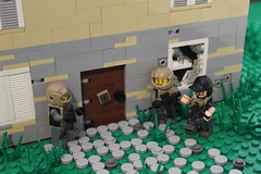 Drug Bust ([C]oolcustomguy) Tags: lego brickarms brick arms trap house drug bust futuristic soldiers military farm grass