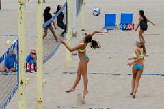 CBVA: AUG_0479 (Kevin MG) Tags: usa ca losangeles manhattanbeach cbva volleyball beachvolleyball beach sand water ocean girl girls young adolescent preteen cute little youth net ball bikini bathingsuits sports