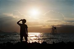 sunset (Hunh Thanh Thng) Tags: sea beach sunset bin nha trang m mn dam mon viet nam vit film canon fujifilm 400 xtra