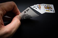 Ace of Spades (timh255) Tags: 1855mm 52weeks ace aceofspades black card cards d5200 flash lightroom nikon offcamera playingcards sb700 timhutchinson tripod