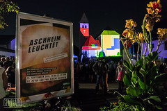 Aschheim leuchtet (genelabo) Tags: 29 plusplus green city landkreis mnchen projektionskampagne projection visuals klimaschutz strasenfest outdoor genelabo colourfull bunt st peter und paul umwelttag kirche aschheim night madmapper leuchtet church video mapping