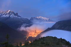 Mont Blanc (camelos) Tags: france chamonix montblanc morning for clouds mountains