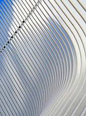 The Occulus (WhiPix) Tags: 0398 path subway nyc wtc exterior lines curves sky blue oculus