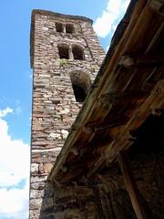 Un clocher du 11me sicle (Iris.photo@) Tags: andorre canillo glise santjoandecaselles ximesicle roman pierre clocher
