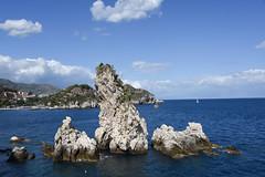Blue (Jacey2009) Tags: blue water rocks sicily taormina
