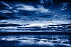 Cold (Derek Coull) Tags: sandend beach simple tonedblackwhite duotone sky clouds sea cold baron peaceful horizon samsungnx1100