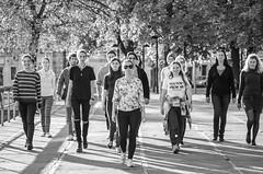 Acting school (shpongleri) Tags: people school acting walk street kont rijeka croatia hrvatska ljudi group team women crowd