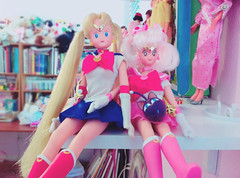 Sisters of the Moon (moonlightcoaster) Tags: sailor moon mini chibi chibiusa usagi serena rini irwin
