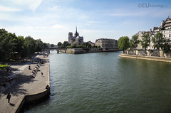 Notre Dame and the Seine (eutouring) Tags: paris france riverseine river seine notredame notredamecathedral